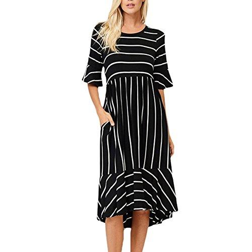 3 4 sleeve black dress - 6