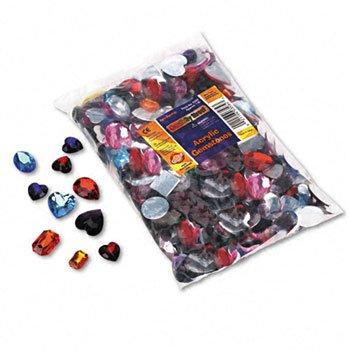 (Chenille Kraft® Acrylic Gemstones Classroom Pack GEMS,ACRYLIC 1LB BAG,AST HCL-20STE-90PP (Pack of5) )