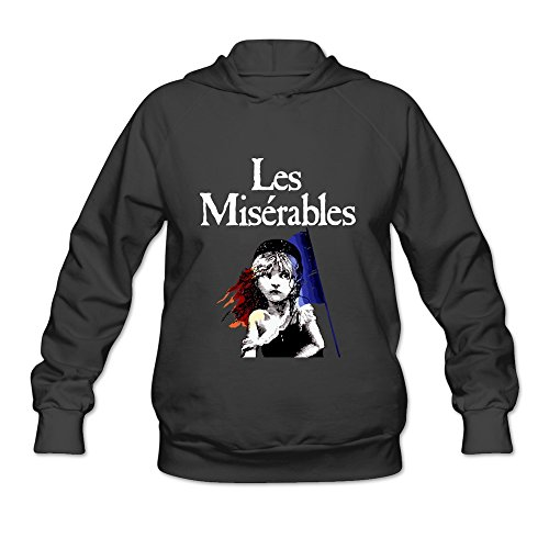[KEIKO Women's Les Miserables Hoodies L Black] (Raptors Mascot Costume)