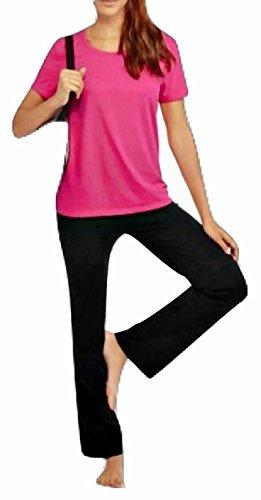 7cec8a2fe5 eFashion4Less 2 pc Bundle  Danskin Women s Active Performance Wide Leg Yoga  Pant + Scoop Neck