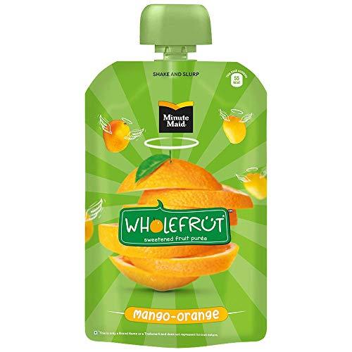 Minute Maid Wholefrüt Mango Orange Purée – Pack of 5 x 100 g