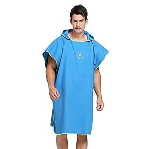 Robe con capucha Toalla Poncho, Traje de la Playa, Albornoz para cambiarse de ropa