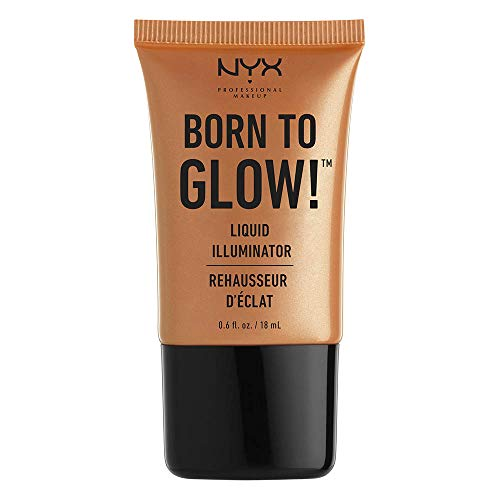 NYX PROFESSIONAL MAKEUP Born To Glow Liquid Illuminator, Pure Gold, 0.60 Ounce ()