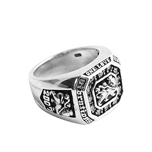 Epinki 925 Sterling Silver Punk Rock Vintage Gothic Leo Ring for Men Size 9 by Epinki