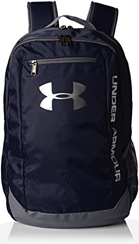Under Armour Men's Hustle LD Water Resistant Backpack Laptop, Midnight Navy (410), One Size