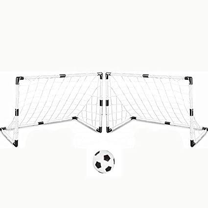 CAIDUD Metas del fútbol Juvenil con balón de fútbol y Bomba DIY ...
