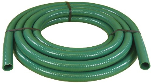 Abbott Rubber 1240-2000-50 Green PVC Water Suction Hose, 1-1/2-Inch by -