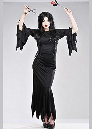 Mujer señora Halloween Traje de Morticia: Amazon.es: Juguetes y juegos