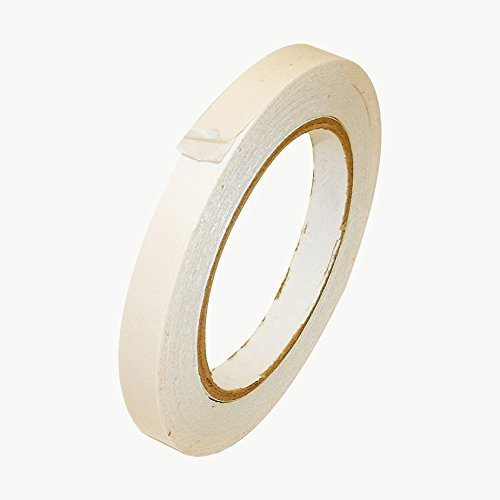 JVCC DCP-02 Double Coated Crepe Paper Tape: 1/2 in. x 36 yds. (White)