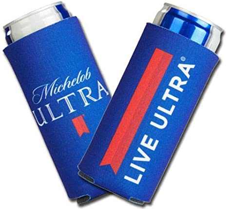 Michelob Ultra Slim Line Can Cooler Set of 2