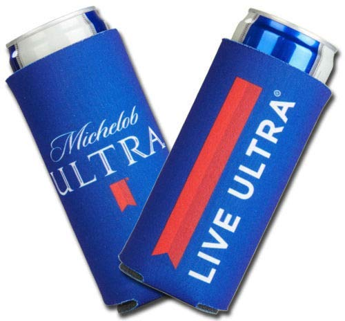 2019 Michelob Ultra Slim Line Can Cooler -2 PACK Coolie LIVE ULTRA ()