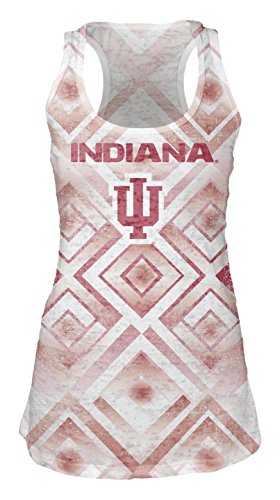 Blue 84 NCAA Indiana Hoosiers Women's Sublimated Burnout Tank Top, Medium, White