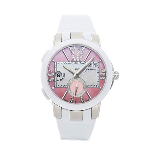 Ulysse Nardin Executive Dual Time Mechanical (Automatic) Mother-of-Pearl Dial Womens Watch 243-10/397 (Certified Pre-Owned) ()