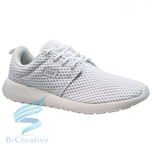 B-Creative MENS RUNNING TRAINERS CASUAL LACE GYM WALKING BOYS SPORTS SHOES LADIES BOYS SIZE White Roshe ddpYzeMwv