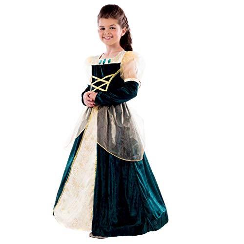 Kids Green Royal Ball Gown Alexandra Deluxe Princess Tudor Queen Dress - Medium