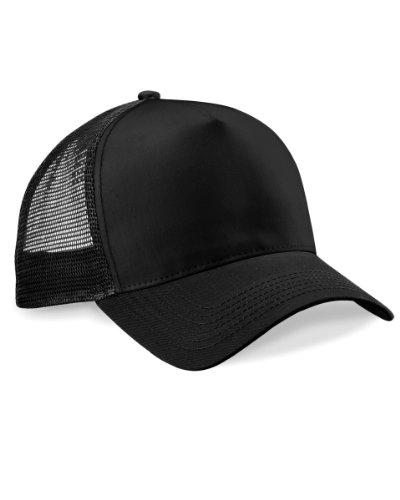 Beechfield Mens Half Mesh Trucker Cap / Headwear (One Size) (Black)