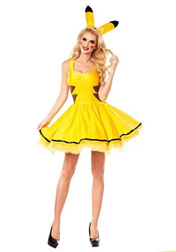 [Party King womens Womens Catch Me Honey Costume Large] (Pikachu Costumes Women)