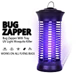Garsum Electronic Mosquito Killer Insect Trap Fly Bug Zapper Repellent for Indoor,Bedroom,Kitchen,Office