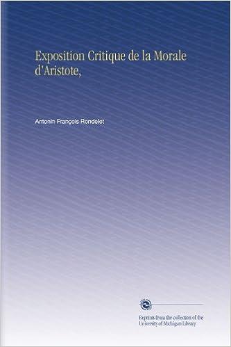 En ligne Exposition Critique de la Morale d'Aristote, pdf