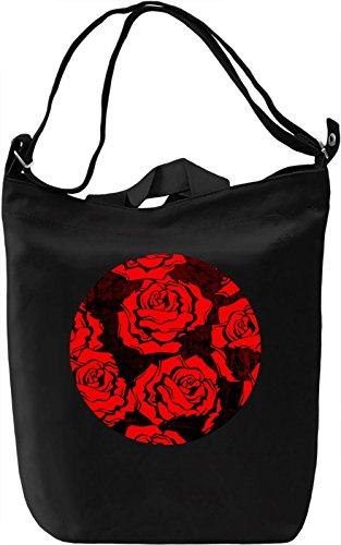 Red Roses Borsa Giornaliera Canvas Canvas Day Bag| 100% Premium Cotton Canvas| DTG Printing|
