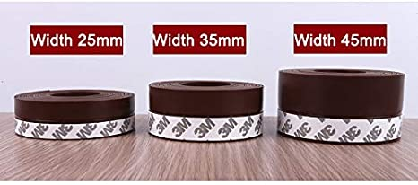 Burletes para puertas ventana sello auto-adhesivo de Gaza Puerta de silicona 1m Proyecto de prueba de polvo burletes