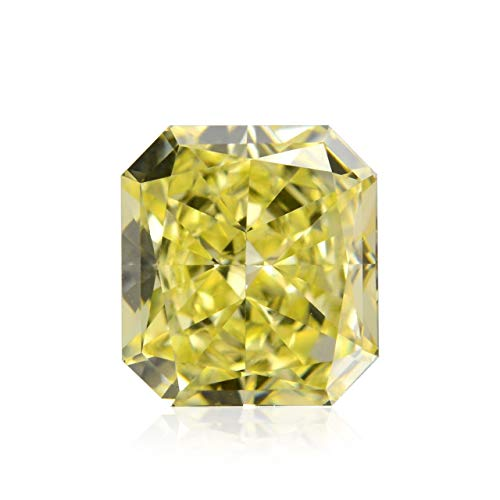 Leibish & Co 0.65Cts Fancy Yellow Loose Diamond Natural Color Radiant Cut GIA Certified
