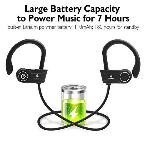 Maono AU-D20X Sports Wireless Bluetooth Headphones with Mic (Black)