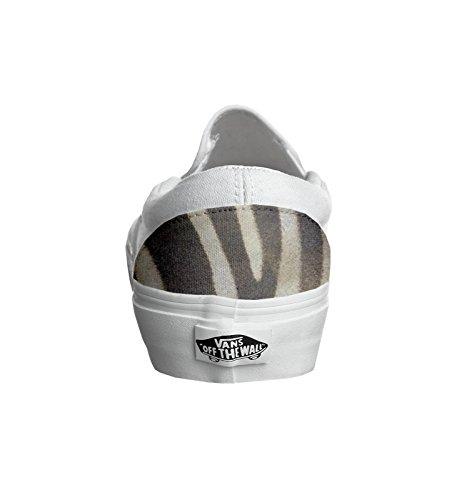 Vans personalizzate U CLASSIC SLIP-ON, Sneaker Unisex Adulto(Prodotto Artigianale) Zebrate