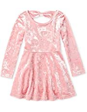 The Children's Place Holiday Long Sleeve Pleated Dress