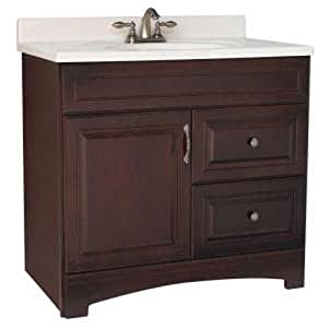 American Classics by RSI GJVM36DY Gallery 36-Inch Vanity Cabinet Only, Java