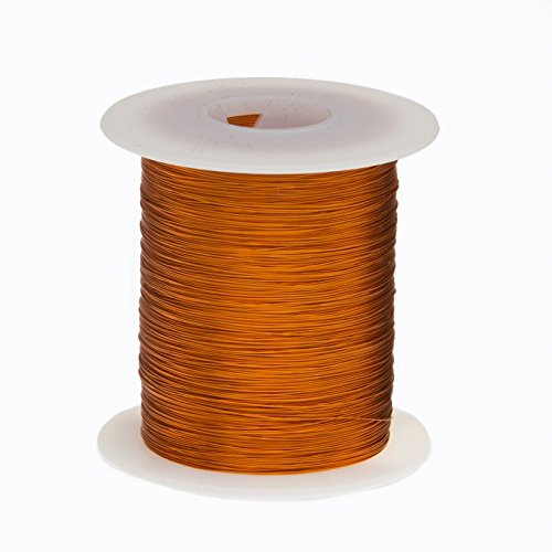 Remington Industries 34S200P.25 Magnet Wire, Enameled Copper Wire Wound, 34 AWG, 4 oz, 2022' Length, 0.0069'' Diameter, 200Â Degree C, Natural