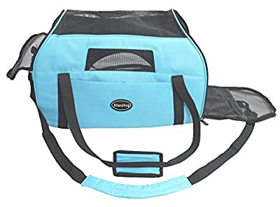 Maxshop Outdoor Portable Pet Carrier,Soft Sided Dog Cat Carrier Airlin Approved Travel Bag by Maxshop