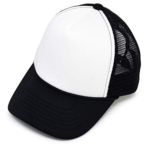 DALIX Infant Trucker Hat Baby Cap Tiny Extra Small Girls Boys in Black White