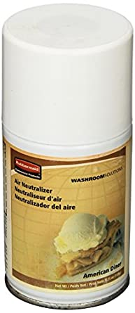 Rubbermaid Commercial FG750297 Standard Aerosol Refill for Microburst Metered Air Care Systems, American Diner (Global Collection)