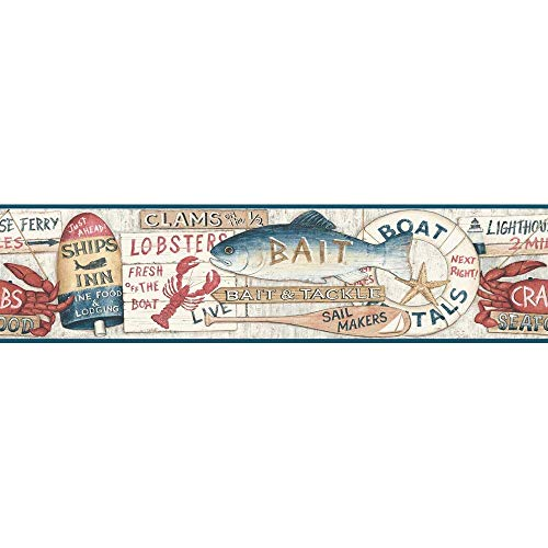 Decorate By Color BC1580645 Blue and Red Nautical Signs Border