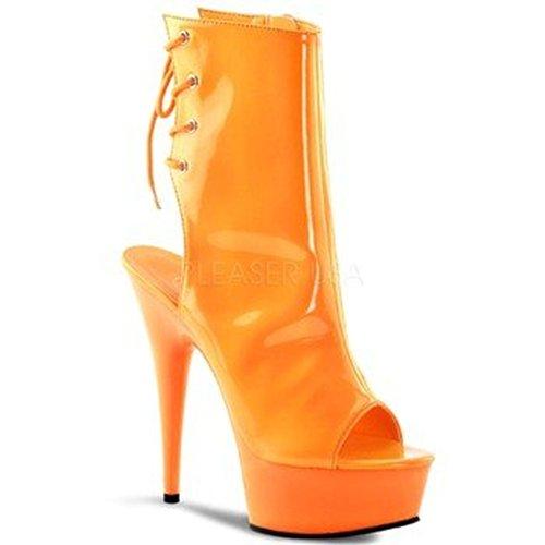 Pleaser Vrouwen Delight-1018 Boot Neon Oranje / Oranje