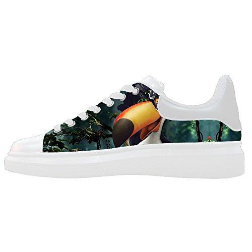 Dalliy Toucan Bird Cartoon Mens Canvas shoes Schuhe Lace-up High-top Sneakers Segeltuchschuhe Leinwand-Schuh-Turnschuhe E