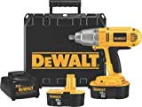 DEWALT DW059K-2 18-Volt NiCad 1/2-inch Cordless Impact Wrench Kit For Sale