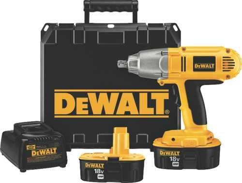 DEWALT DW059K-2 18-Volt NiCad 1/2-inch Cordless Impact Wrench Kit For Sale