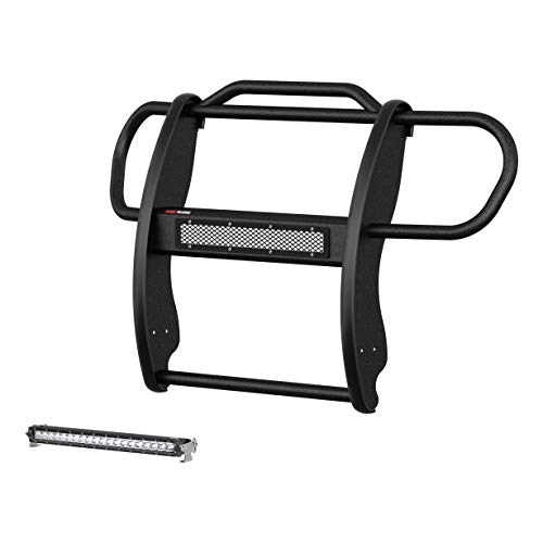 ARIES 2170031 Pro Series Black Steel Grill Guard with 20-Inch LED Light Bar Carbide Powder Coat Select Jeep Renegade