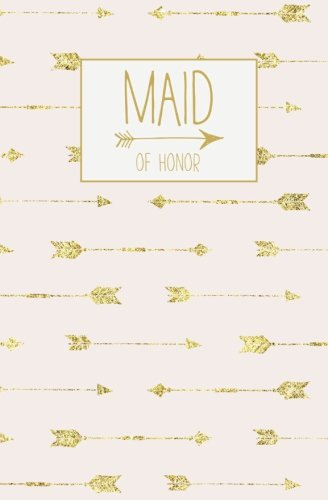 Maid of Honor: Notebook, Rose Gold Blank Wedding Planning Journal, 110 Lined Pages, 5.25 x 8, Stylish Journal for Bridesmaid, Ideal for Notes & Ideas ... to Be