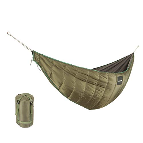 KING SHOWDEN Hammock Underquilt Lightweight Camping Double Winter Sleeping Bag Under Quilt Blanket Ultralight Underquilt Keep Your Warmer Saves Space Portable (Green)
