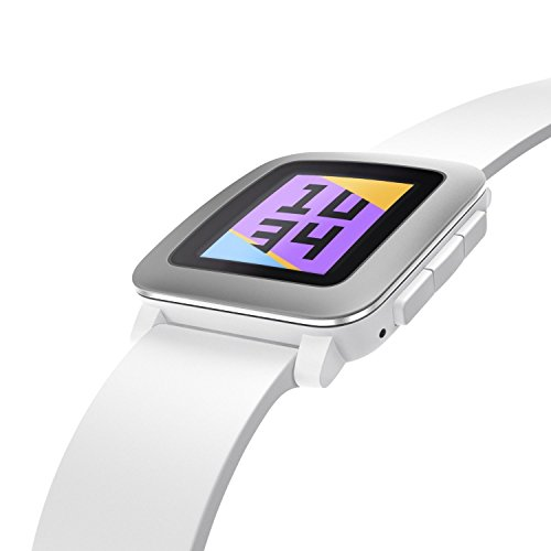 Pebble Time Smartwatch - White (Certified Refurbished)