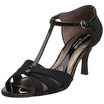 Naturalizer Princeton - Sandalias de vestir de lona para mujer negro negro 38