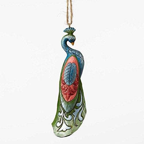 Jim Shore Winter Wonderland Peacock Christmas Tree Ornament
