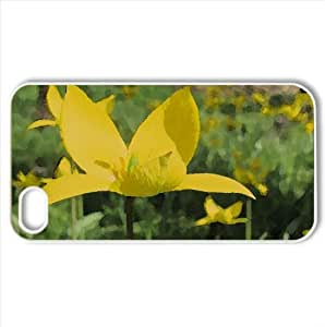 Flower Watercolor style Cover iPhone 4 and 4S Case (Flowers Watercolor style Cover iPhone 4 and 4S Case)