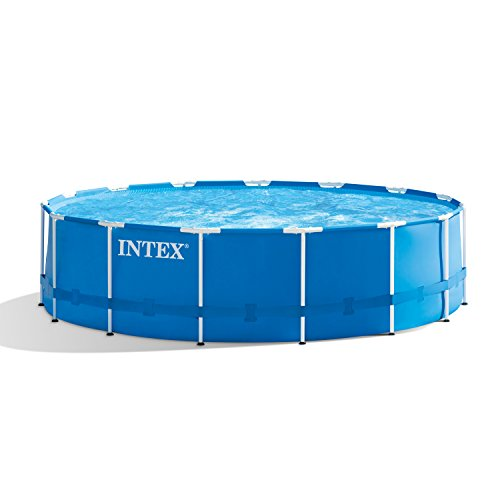 Intex 15ft X 48in Metal Frame Pool Set with Filter Pump, Ladder, Ground Cloth & Pool Cover - Elite Pool Covers