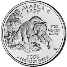 (2008 P Alaska State Quarter Choice Uncirculated )