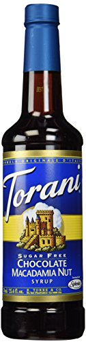 (Torani Sugar Free Chocolate Macadamia Nut Syrup, 750 ml)