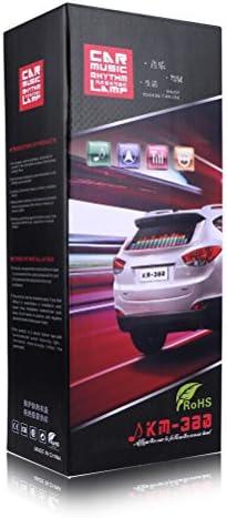 Ourleeme Car Sticker Musik Rhythmus Flash Led Light Lamp Sound Hat Equalizer Aktiviert 90 X 25 Cm Auto